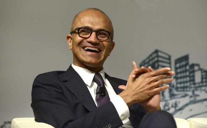 CEO Of Microsoft Satya Nadella Gives Lecture At Tsinghua University